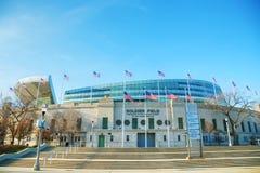 战士领域体育场在芝加哥 库存照片