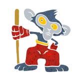 战士猴子动画片 库存例证