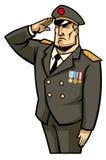 战士致敬 免版税库存图片