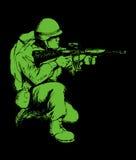 战士 向量例证