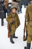 年轻战士 免版税图库摄影