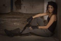 战士Silvia 图库摄影