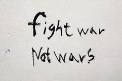 战斗不是战争战争 免版税库存照片