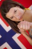 战斗在妇女的标志挪威 库存照片