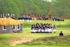 战斗场面 在战场的战士战斗 库存图片