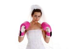 战斗婚礼 免版税库存图片