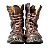 战斗时穿的长统靴 免版税图库摄影