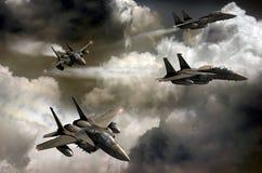 战斗机巡逻 向量例证