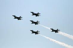 战斗机形成小组 免版税库存照片