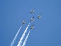 战斗机形成小组 库存照片