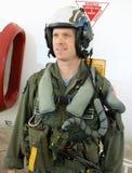 战斗机海军飞行员 免版税库存图片