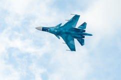 战斗机获取高度 免版税库存照片