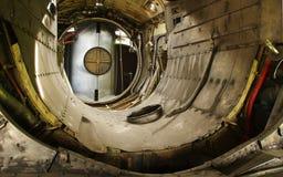 战斗机飞机引擎房间 库存照片
