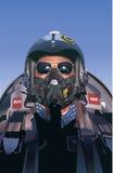 战斗机飞行员例证 免版税库存图片