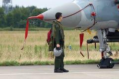 战斗机飞行员 免版税图库摄影
