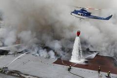 战斗火消防员小组 免版税库存照片