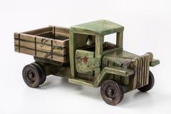战斗用车辆第二次世界大战,玩具的模型由木头制成 免版税库存照片