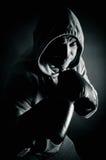 战斗的拳击手训练 免版税库存照片
