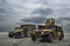 战斗的机器在战区 库存图片