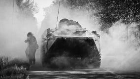 战斗的机器 库存照片