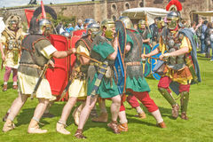 战斗的罗马战士 免版税图库摄影
