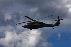 战斗直升机军人 库存照片