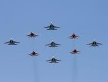 战斗群飞机 库存照片