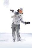 战斗雪球 免版税图库摄影