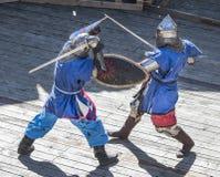战斗骑士在竞技场 库存图片