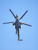 战斗直升机Mi 28,底视图 免版税库存照片