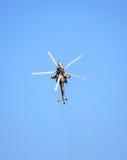 战斗直升机Mi 28,顶视图 库存图片