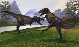 战斗rex t 向量例证
