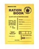 1944战时配给票证簿 免版税库存图片