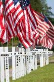 战死者尊敬与阵亡将士纪念日的交叉 免版税库存图片