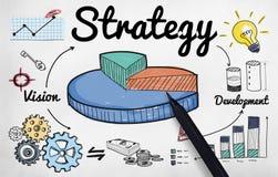 战略企业图视觉发展概念 向量例证