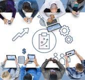 战略企业激发灵感图表概念 免版税库存图片
