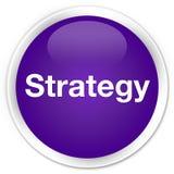 战略优质紫色圆的按钮 免版税库存照片