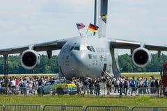 战略和作战airlifter波音C-17 Globemaster III 图库摄影