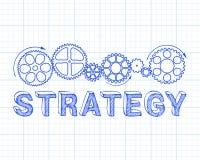 战略座标图纸 库存例证