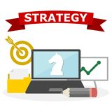 战略概念例证,简单的传染媒介例证 库存图片