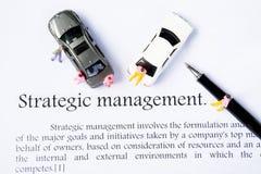 战略管理焦点背景 免版税图库摄影