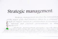 战略管理焦点背景 免版税库存图片