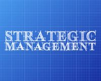 战略管理词图纸 皇族释放例证