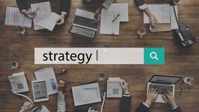 战略解答计划企业成功目标概念 免版税库存图片