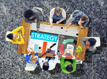 战略计划营销数据想法创新概念 免版税库存图片