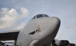 战略轰炸机鼻子视图 库存图片