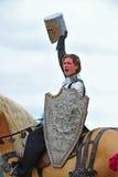 战胜的骑士 库存图片