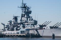 战舰新泽西看法  免版税库存图片