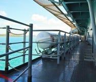 战舰橡皮救生艇  免版税库存照片