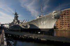 战舰USS威斯康辛博物馆胜利纪念碑 库存图片